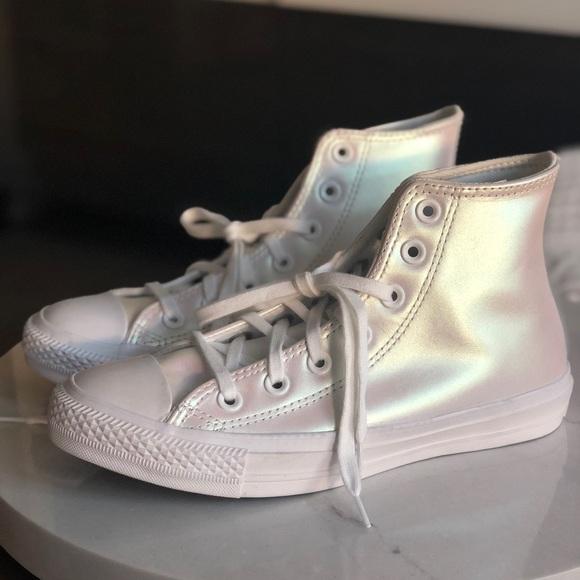 Converse Shoes   Iridescent High Top